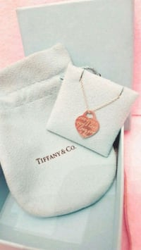 Authentic Tiffany and Co Silver Pendant & Necklace Toronto