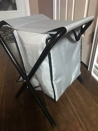Foldable stool cooler camping chair , L2H 1S7