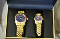 Men and Womens gold watch set Columbia