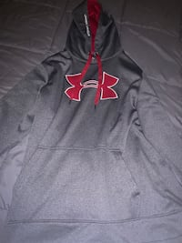 mens underarmour hoodie grey and red LG. Surrey, V3X 0G3