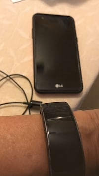 black LG android smartphone with charger Greenacres, 33463