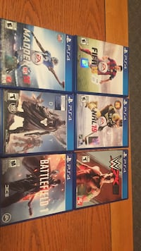Six sony ps4 game cases Thunder Bay, P7K 1B9