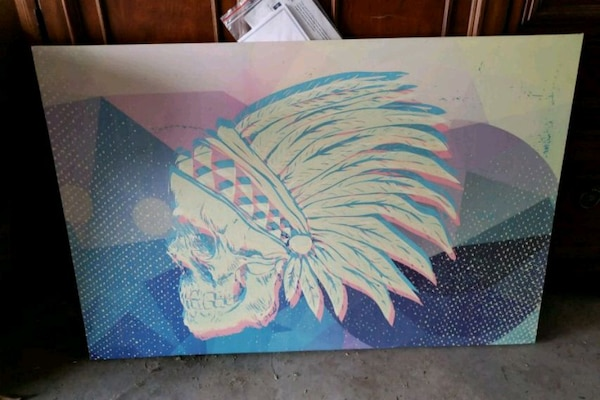 Indian skull painting 176cc091-3be2-409d-be64-364d6519a54a