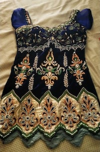 Navy blue velvet dress with diamond n pearl work Mumbai, 400068