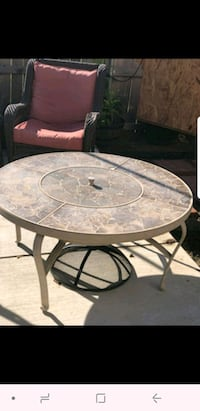 Patio firepit table and chairs Crowley, 76036