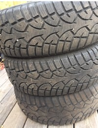two black vehicle tire set Ottawa, K2M 2N3