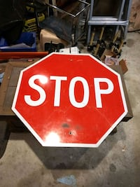 """30"""" x 30"""" retired aluminum stop sign Milford Square, 18935"""
