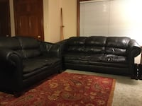 black leather sectional couch with throw pillows 2291 mi