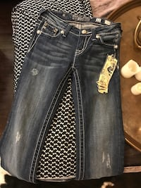 Blue denim miss me jeans size 12 girls new! Tags distressed  Greenland, 72701