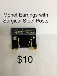 Monet Earrings with Surgical Steel Posts