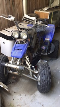 blue and black Yamaha ATV 2339 mi
