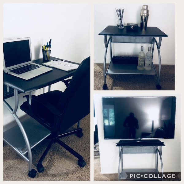 Tremendous Just 40 Beautiful Multipurpose Rolling Table Study Desk Rolling Mini Bar In Great Condition With Minor Signs Of Use Chair Not Included Can Be Home Interior And Landscaping Oversignezvosmurscom