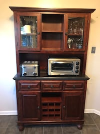 Cherry wood Buffet cabinet with hutch Falls Church, 22042