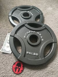 Pair of 25 LBS Weight Plates