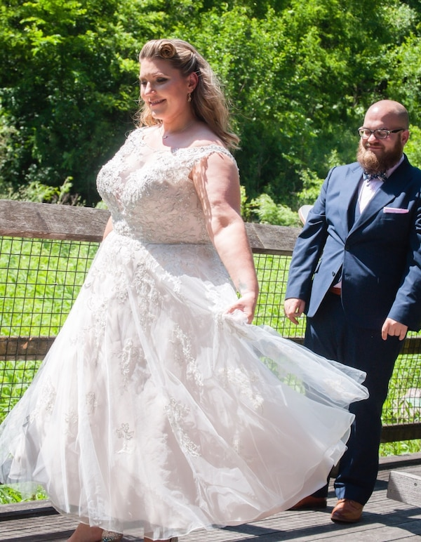 Tea length wedding gown - plus size