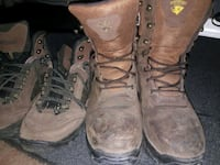 pair of brown leather work boots Tucson, 85711