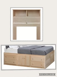unfinished twin storage bed  STATENISLAND