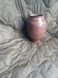 Brown texture pottery jar by CW High Point
