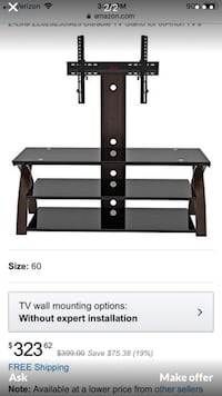 Glass tv stand  Manchester, 06040