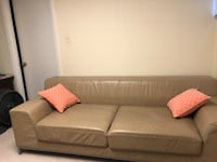 gray fabric 2-seat sofa 32 km