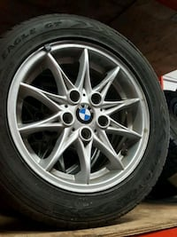 16 inch bmw rim and tire set