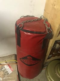 red and black Everlast heavy bag Hamilton, L8H 3X2