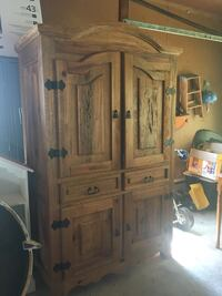Solid Wood Armoire/Entertainment Center