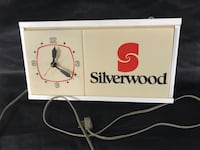 VINTAGE SILVERWOOD ICE CREAM DAIRY CLOCK LIGHT SIGN SILVERWOODS Ottawa, K0A 3H0