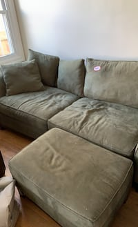 Couch and matching ottoman