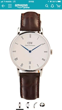 Daniel Wellington analog watch with brown leather strap Washington, 20002
