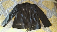 black leather zip-up jacket Myrtle Beach, 29572