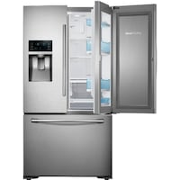 Samsung RF23HTEDBSR 23 Cu. Ft. Capacity 36 Inch Wide Counter Depth French Door Refrigerator with 3-Door Food ShowcaseSamsung RF23HTEDBSR 23 Cu. Ft. Capacity 36 Inch Wide Counter Depth French Door Refrigerator with 3-Door Food ShowcaseSamsung RF23HTEDBSR 2 Garland