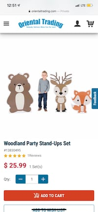Woodland party stand ups