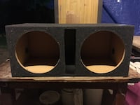 Black and gray subwoofer enclosure Plano, 75093