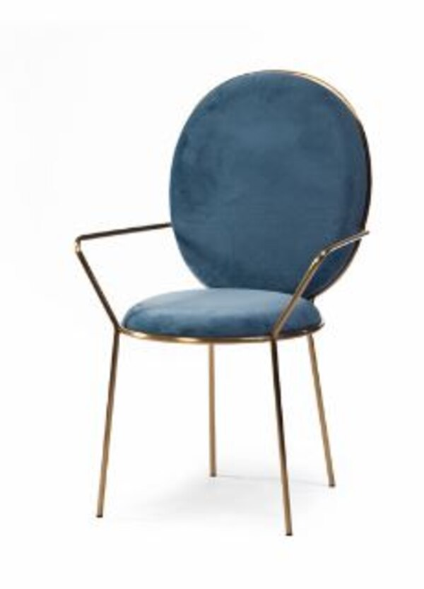 Gold and Velvet accent dining chair. 768deaea-3c3d-485f-9195-edc0b77ac31f