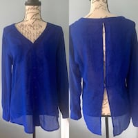LF Royal Blue Open Back Blouse Size small Boston, 02115