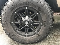 """17"""" mayhem rims with almost new Goodyear tires  Surrey, V3T"""