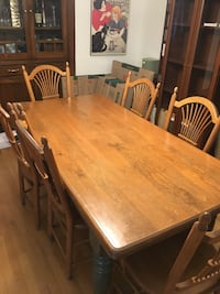 rectangular brown wooden table with chairs Montréal, H2V 3B5