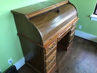 brown wooden writing desk