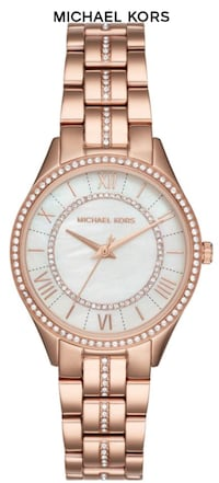 round gold-colored Michael Kors analog watch Scottsdale, 85259