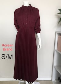Burgundy Midi Dress with Ties Burnaby, V5C 5A9