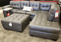 2pc Sectional in Gray Durablend Phoenix