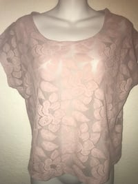 Pink floral forever 21 girls top Sz small