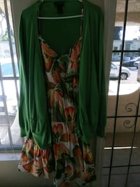 green and red floral spaghetti strap dress Signal Hill, 90755