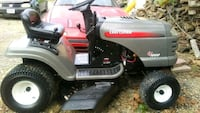 red and black Craftsman ride on mower 58 km