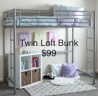 stainless steel twin loft bunk bed