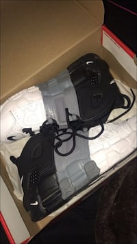 gray-white-and-black Nike Uptempo shoes with box Hyattsville, 20785