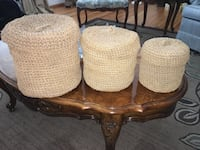 Decorative Woven Rope Containers Lancaster, 93534