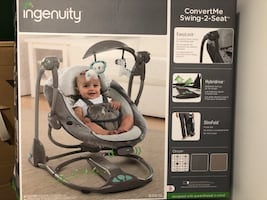Baby convertible swing