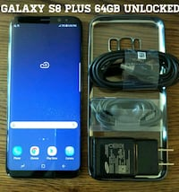 Black Galaxy S8 Plus 64GB UNLOCKED w/ Accessories  Arlington